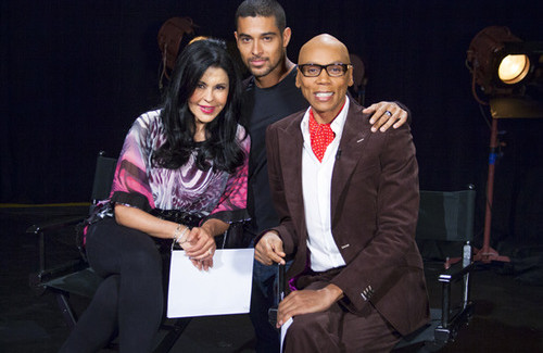 Maria Conchita Alonso and Wilmer Valderrama on RuPaul's Drag Race