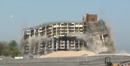 Governors Island's Tallest Building Imploded