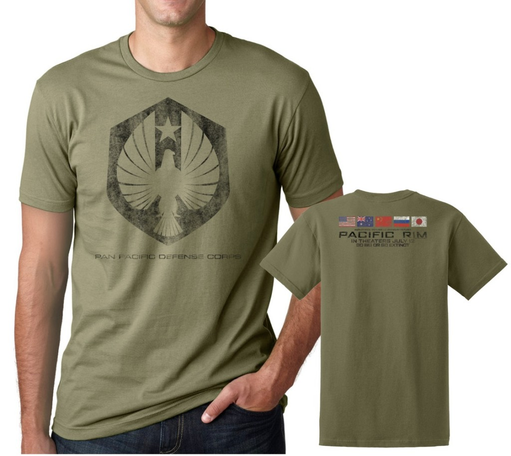 Pacific Rim Giveaway Men's Pan Pacific Defense Corps Olive T-Shirt