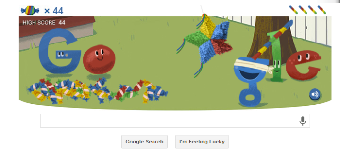 Google Celebrates 15 with Piñata Game
