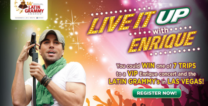 7UP Latin Grammy s Enrique Iglesias