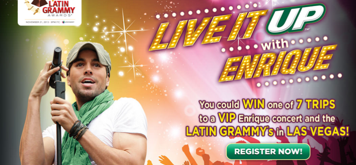 Win VIP Enrique concert and Tickets to the 14th Annual Latin GRAMMY Awards