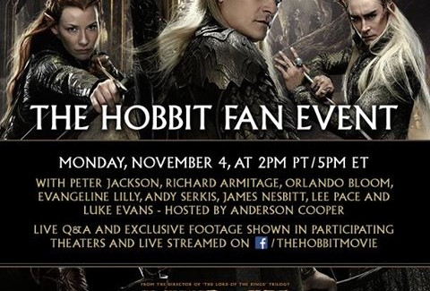 """Worldwide Fan Event for """"The Hobbit: The Desolation of Smaug"""" Set for November 4, 2013"""
