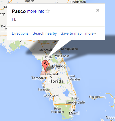Pasco County  Florida   Google Maps
