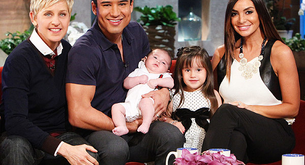 Mario Lopez Introduces New Son Dominic to Ellen Degeneres