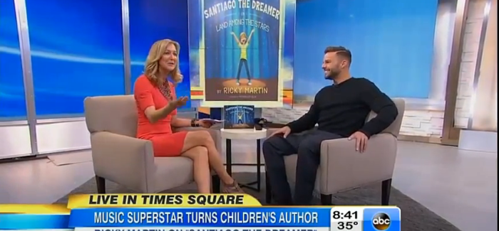 Ricky Martin Talks With Good Morning America About His Book 'Santiago The Dreamer'