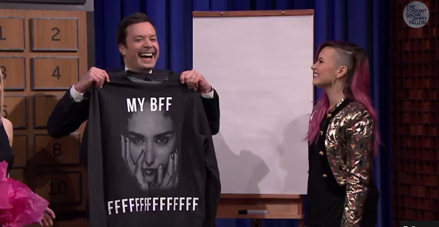 Pictionary with Demi Lovato, Kristen Bell and Steve Harvey on Jimmy Fallon