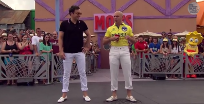 Jimmy Fallon Pitbull Beer Pong