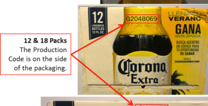 Corona - recall-production-codes
