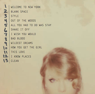 Taylor Swift New Album '1989′ Tracklist
